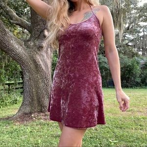 Topshop Mini Dress Soft Velvet Feel